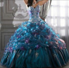 Sexy Blue Prom Party Bridesmaid Dresses Ball Gown Quinceanera Dress Stock 6-16