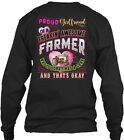 perfect girlfriend gift - Perfect Gift For A Farmers Girlfriend - Proud Of Gildan Long Sleeve Tee T-Shirt