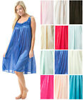 Casual Nights Women's Satin Lace Sleeveless Night Gown