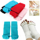 2X Warm Soft 5 Toe Separator Socks Massage Sport Yoga Foot Alignment Pain Relief