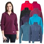 Trespass Shiner Womens Fleece Jumper Warm Winter Pullover in Black Purple Blue