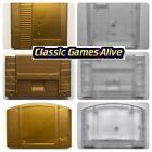Kyпить Zelda Gold Cart Gray Shell Clear Case for N64, SNES and NES replacement на еВаy.соm
