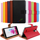 For LG G3 V20 G4 G2 G6 Genuine Leather Wallet Stand Flip Card Slot Case Cover