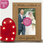 Father of the Bride Personalised Photo Frame Thank You Gift Dad Wedding Gifts