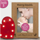 New Baby Boy Baby Girl Personalised Photo Frame Gift - Engraved Newborn Keepsake
