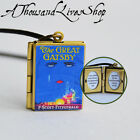 The Great Gatsby Book Locket (quote inside) Charm, Keychain or Pendant Necklace