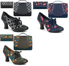 Ruby Shoo Brogue Daisy Lace Up Shoe Boots & Matching Belfast Bag & Ontario Purse