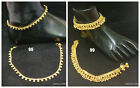 Golden Polish Bollywood Bridal Party Dance Fashion Bell Anklet Payal Karwachauth