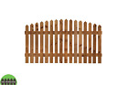 Arched Top Picket Fence Panels 2ft/3ft/4ft Round Top/pointed Top