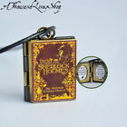 Sherlock Holmes Book Locket (quote inside) Charm, Keychain or Pendant Necklace