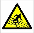 1014 Fragile Roof sign weatherproof Aluminium Plaque PVC or Vinyl Sticker