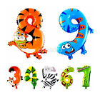Cute Animal Shaped Number Zoo Foil Balloon 0-9 Birthday Wedding Party Decoration