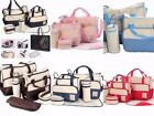 Changing Bag Baby Nappy Set Mat Mummy Bags Bottle Mat Holder Maternity Polka Dot