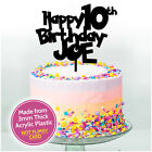 Boys Personalised Birthday Cake Decoration Topper Son Him Girls ANY NAME + AGE
