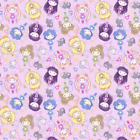 Sailor Moon Chibi Anime Manga Fabric Printed by Spoonflower BTY