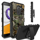 For T-Mobile REVVL / Alcatel A30 Fierce Hybrid Clip Stand Armor Phone Case Cover