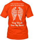 Guardian Angels - They Watch Over My Back I Have Loved Hanes Tagless Tee T-Shirt