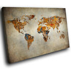 SC771 vintage world map aged Scenic Wall Art Picture Large Canvas Print