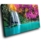 SC864 pink trees tropical lake Scenic Wall Art Picture Large Canvas Print