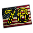 Pittsburgh Steelers American Flag Alejandro Villanueva #78 Decals 4x6 Inch $34.95 USD on eBay