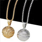 Basketball Edge Pendant Stainless Steel Charm Necklaces Sports Team Jewelry