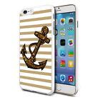 For Various Phones Design Hard Back Case Cover Skin - Anchor Stripes