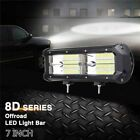 7inch 216W 21600LM 8D LED Light Bar Flood Driving Lamp For SUV ATV Offroad 4WD