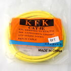 NEW KFK 6ft CAT5E Yello Ethernet Patch Cable - 179ss