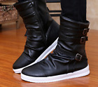 New Mens Buckle Strap Ankle Boots Casual Athletic Outdoor Dress Knight Shoes SZ