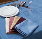 Swirl Tablecloth Blue & Rose/Pink Square 180cm 6-8 Seat 100% Polyester Easy Care