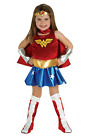 Girls Wonder Woman Complete Costume Sizes to fit ages 2 to 10 Years Super Hero