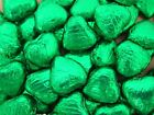 GREEN FOIL CHOCOLATE LOVE HEARTS WEDDING FAVOURS WRAPPED