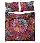 Indian Psychedelic Duvet Quilt Cover Reversible Bohemian Bedding Set Doona Cover