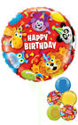 Happy Birthday Party Animals - Inflated Birthday Helium Balloon Delivered in a B