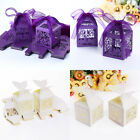 50x Bird Cage Laser Cut Bomboniere Boxes Wedding Favor Shower Candy Gifts Wrap