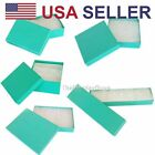 12 pcs Teal Green Cotton Filled Jewelry Gift Boxes With Variety Of Sizes