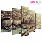 PC157 Galata Bridge Istanbul  Scenic Multi Frame Canvas Wall Art Print