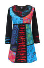 New Long Sleeve Patchwork Bohemian Dress up to Plus Size