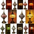 Turkish Moroccan Ottoman Handmade Oval Tiffany Colourful Mosaic Table Desk Lamp
