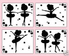 Внешний вид - Ballerina Silhouette Prints Wall Art Girl Ballet Dance Room Baby Nursery Decor