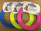 "DOG FRISBEE PUPPY TOY FLING A RING 8.5"" STRONG DURABLE VINYL 3 COLOURS"