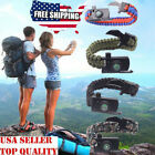 paracord survival belt - 15 In 1 Outdoor Survival Bracelet Paracord Compass Whistle Scraper Rope Gear USA