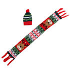 Creative Christmas Wine Bottle Scarf + Hat Xmas Party Dining Table Decor Cover