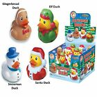 Christmas Rubber Bath Duck Elf Shelf Prop Stocking Filler Gift Toy Santa Snowman