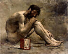 Diogenes by Bastien-Lepage (classic French and Greek art print)