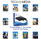 PlayStation PS4 slim 500gb or 1Tb Bundle,  2 Premium Games Ships Fast Shipping