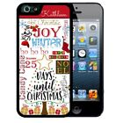 PERSONALIZED RUBBER CASE FOR iPHONE X 8 7 6S SE 5C 5S PLUS ADVENT CHRISTMAS