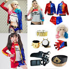Suicide Squad Harley Quinn Tops Coat Jacket Accessory Full Set Halloween Costume
