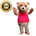 TED Mascot Costume - TED Costume - TED red apron mascot costume - TED the movie