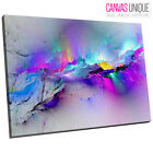 AB968 Blue Multicolour Modern Abstract Canvas Wall Art Framed Picture Print
